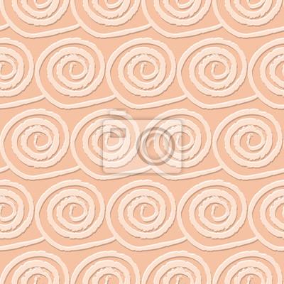 Circles and swirls vintage seamless pattern