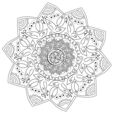 Fototapete Circular abstrakte Muster der verschiedenen Elemente.