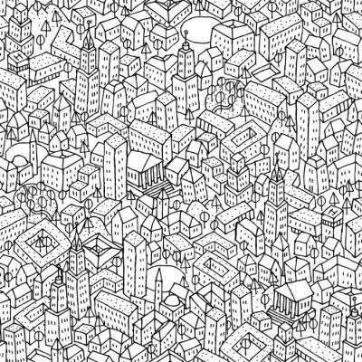 Fototapete City seamless pattern