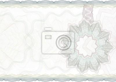 Fototapete Classic Guilloche Grenze zum Diplom oder Zertifikat.