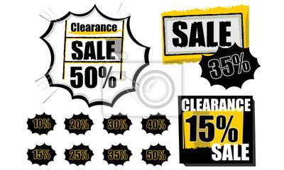 Clearance Sale tags Einkaufs