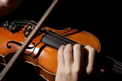 Fototapete Close-up Foto von Mann Geige spielen