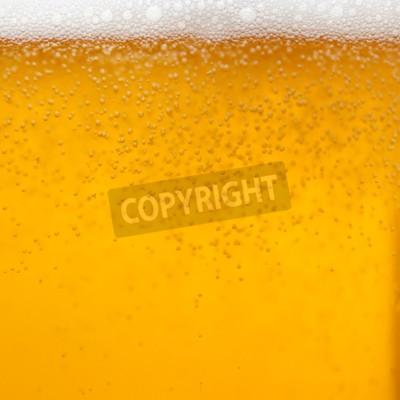 Fototapete Close up von einem Glas Bier