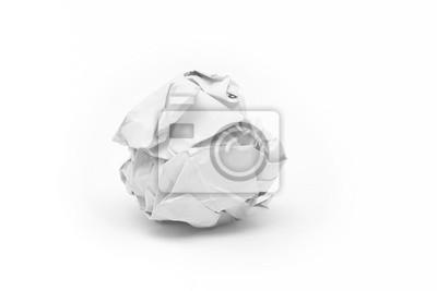 close-up von zerknittertes Papier Ball