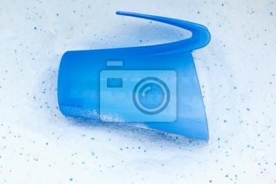 Close-up Waschmittel mit Cup für Wäscherei-Waschmaschine