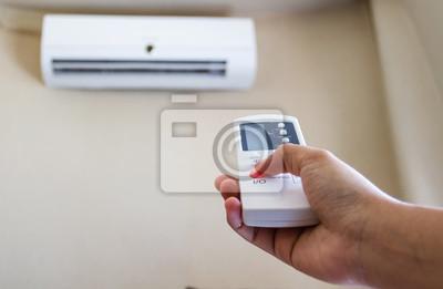 Closeup Ansicht zur Verwendung einige Geräts wie Klimaanlage.