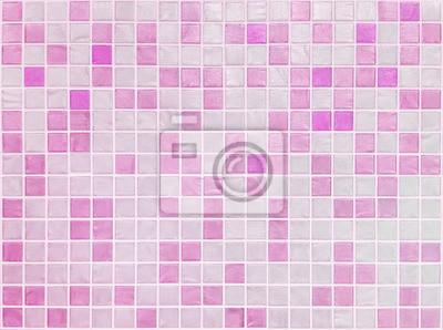 Closeup Oberflache Fliesen Muster Bei Rosa Fliesen Im Badezimmer