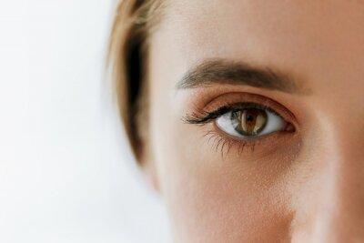 Fototapete Closeup Schöne Mädchen Auge Und Augenbraue Mit Natürlichen Make-up