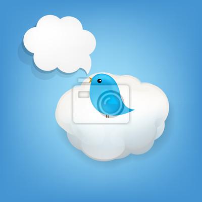 Cloud Icon mit Vogel