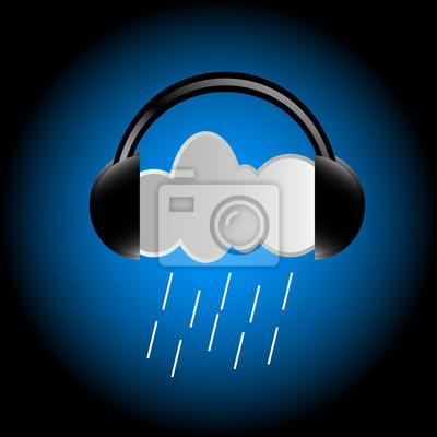 Cloud in Kopfhörer