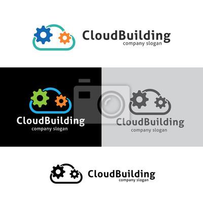 Cloud-logo. wolke-ikone. wolke-symbol. vektor-logo-vorlage ...