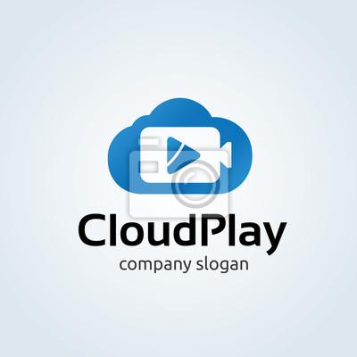 Cloud-logo. wolke-symbol. vektor-logo-vorlage. fototapete ...