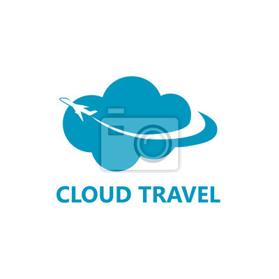 Cloud travel logo vorlage design fototapete • fototapeten tour ...