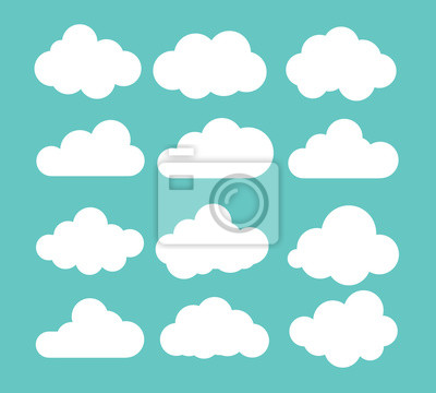 Fototapete Clouds icon , vector illustration