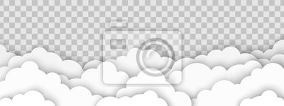 Fototapete Clouds on transparent background