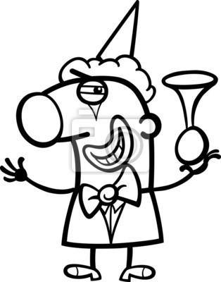 Clown cartoon färbung seite fototapete • fototapeten Färben, Komiker ...