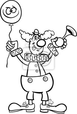 Clown Cartoon Zum Ausmalen Fototapete Fototapeten Färben Komiker