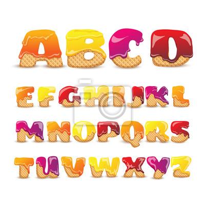 Coated Wafers Sweet Alphabet Buchstaben Set
