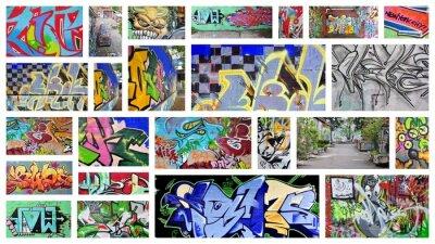 Fototapete Collage Graffiti ...