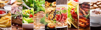 Fototapete Collage von Lebensmitteln