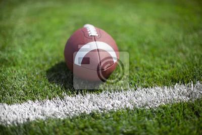 College-Football an Yard-Linie oder ein Ziel mit different Hintergrund