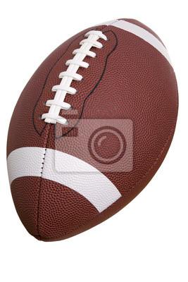 College Football auf einem weißen Hintergrund isoliert
