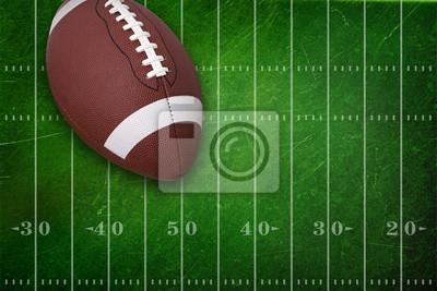 College Football auf Grunge Feld Hintergrund