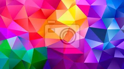 Fototapete Color Blend Rainbow Trendy Low Poly BG Design