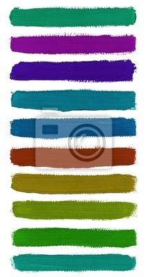 Colorful Aquarell von Hand bemalt Pinselstriche