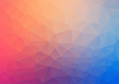 Fototapete Colorful geometric background with triangles