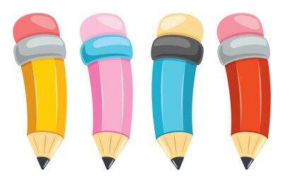 Fototapete Colorful Pencils For Kids Education