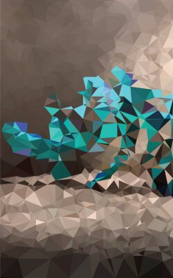 Fototapete Colorful polygonal background