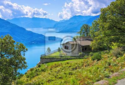 Fototapete Comer See Kleines Haus Am See   Comer See, Kleines Haus An  Italienischen Seen