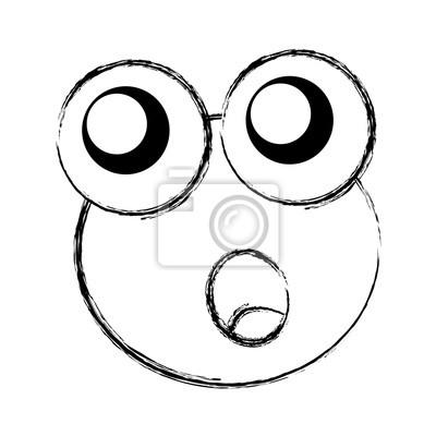 Comic Frosch Zeichen Symbol Vektor Illustration Design Fototapete