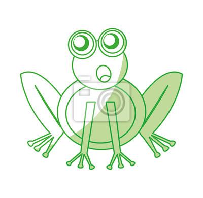 Img Myloview De Fototapeten Comic Frosch Zeichen S
