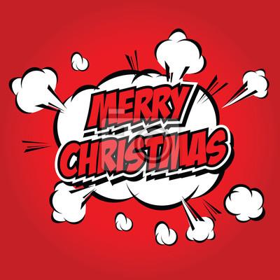 Bilder Comic Weihnachten.Fototapete Comic Style Frohe Weihnachten Illustration