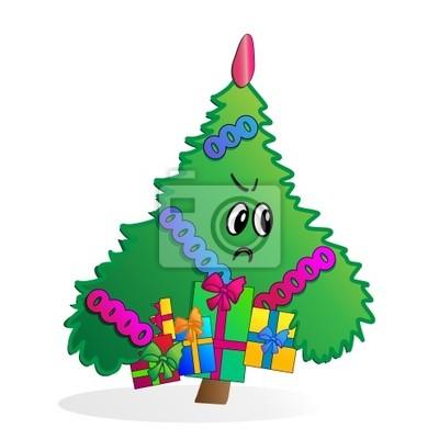 Weihnachtsbaum Comic.Fototapete Comic Vektor Weihnachtsbaum Mit Geschenken