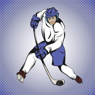 Fototapete Comics Eishockeyspieler