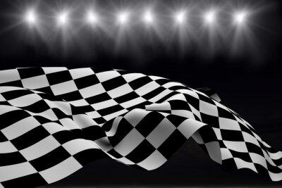 Fototapete Composite-Bild von Zielflagge