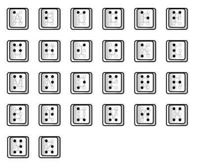 Computer Key Alphabet Braille