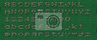 Computer-Motherboard Beschriftung