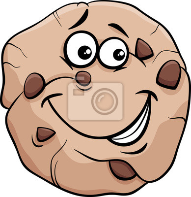 Cookie cartoon illustration fototapete • fototapeten Buttergebäck ...
