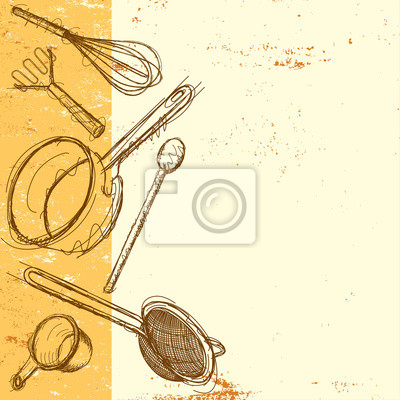 Cooking utensil background