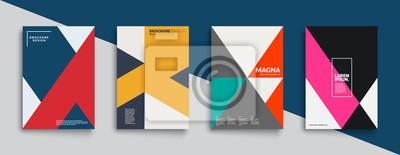 Fototapete Cool trendige Abdeckungen Design. Bunte Moderne. Minimal geometrische Formen Zusammensetzung. Futuristische Muster. Eps10-Schichtvektor.