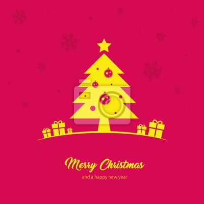 Fototapete Coole Und Schlichte Design Weihnachtskarte Mit Frohe Weihnachten