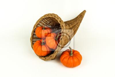 Cornucopia mit Mini Pumpkins