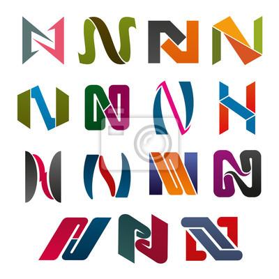 Corporate Identity Buchstabe N-Symbol für Visitenkarte