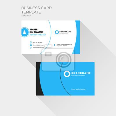 Corporate Visitenkarte Druckvorlage Persönliche