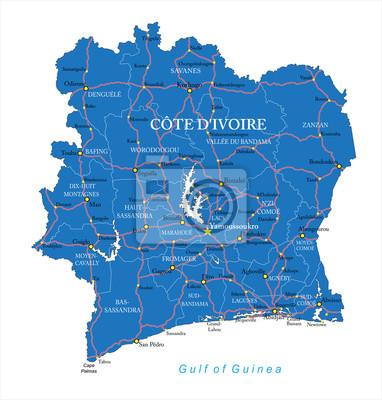 Fototapete: Cote divoire map