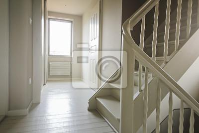 Couloir étage chambres intérieur maison avec escalier fototapete ...